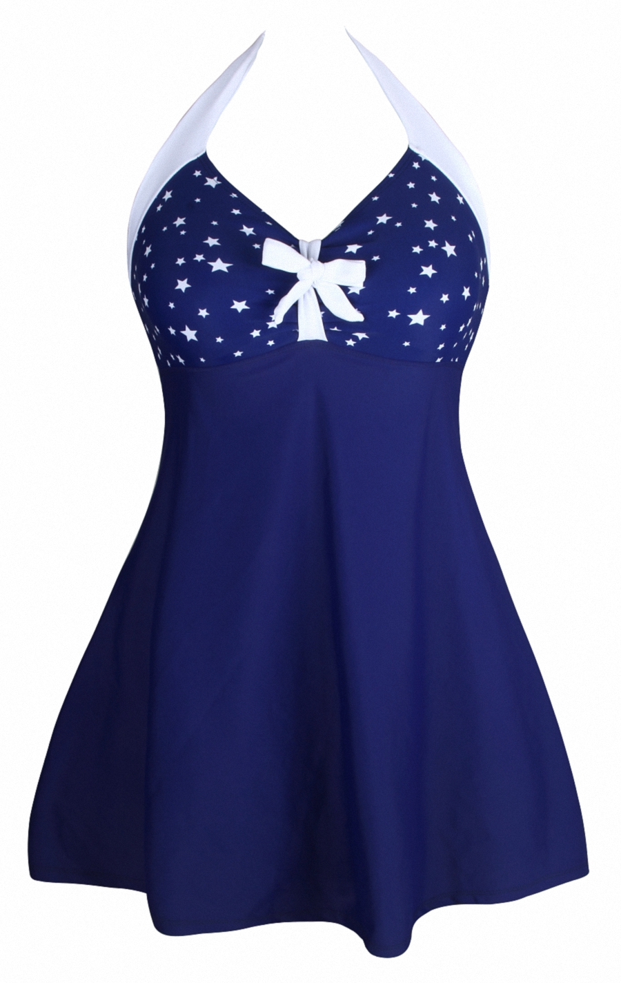 One-piece Swimdress Stylish Women Lacing Bow Skirted Swimsuit Beachwear Cover-Ups Dress Bathingsuit Summer Playsuit