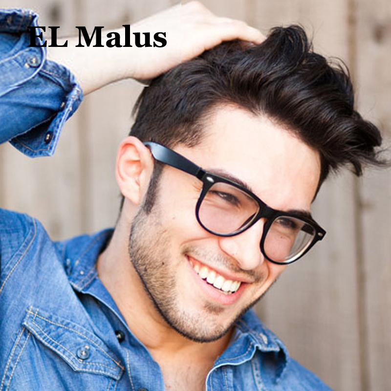 el Malus retro Square Eyeglasses Frame Mens Women Clear Transparent Lens Glasses Black Tan Leopard Shades Brand Designer Aromatic Character And Agreeable Taste Men's Glasses