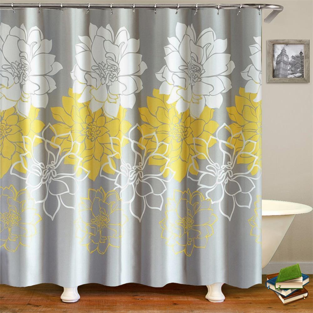 Peony Flower Shower Curtain Cheap Shower Bath Curtain for ...