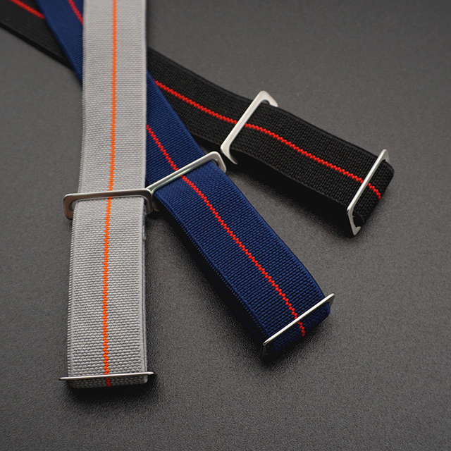 20mm 22 mm French Troops Parachute Bag For NATO Elastic Nylon Belt General Brands Watch Strap Band Military Watchband 1