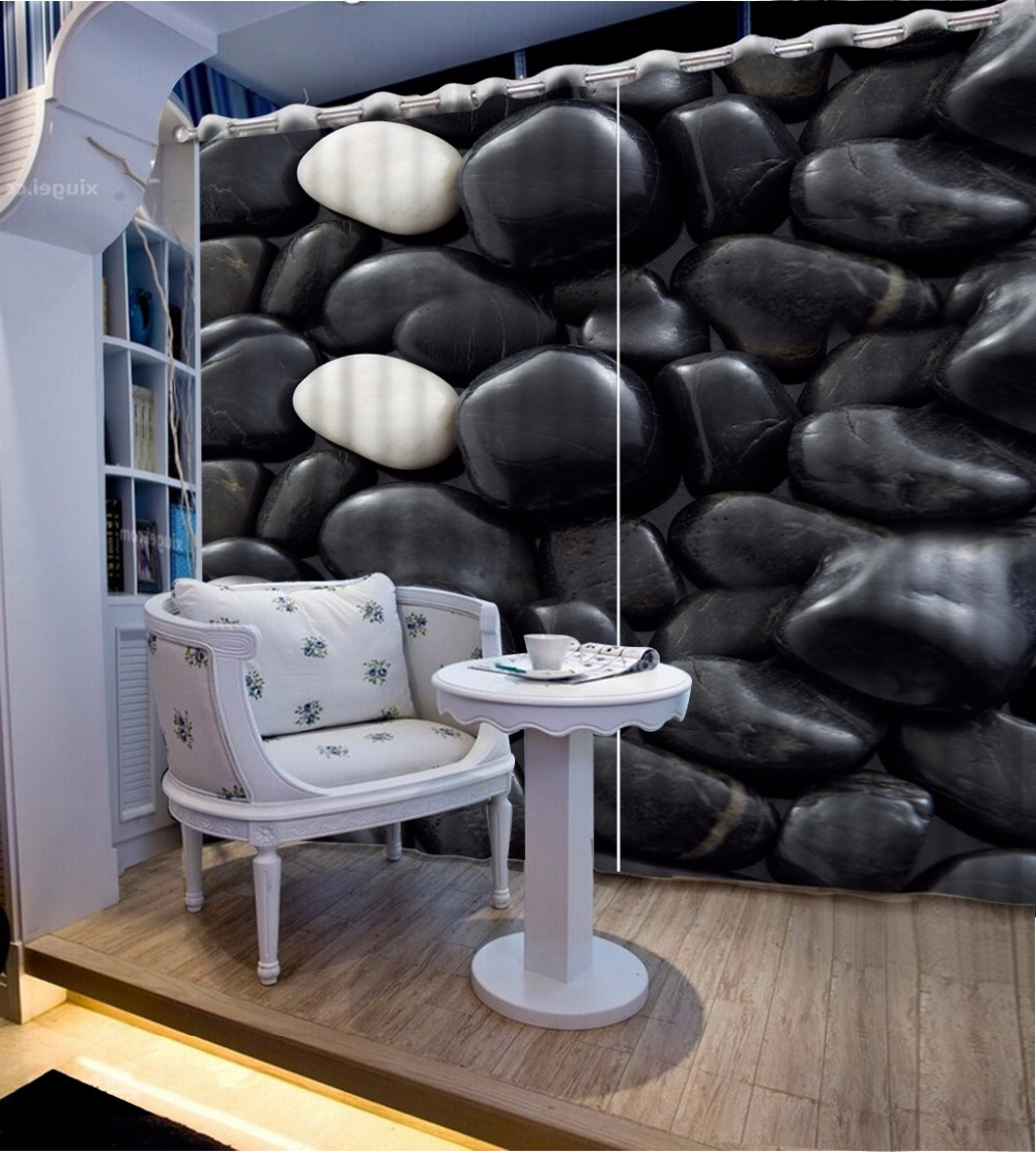 Black And White Curtains Drapes Stone Design Curtains For