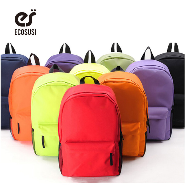 ECOSUSI New Women Backpack Campus 10 Colors Backpack High Quality ...