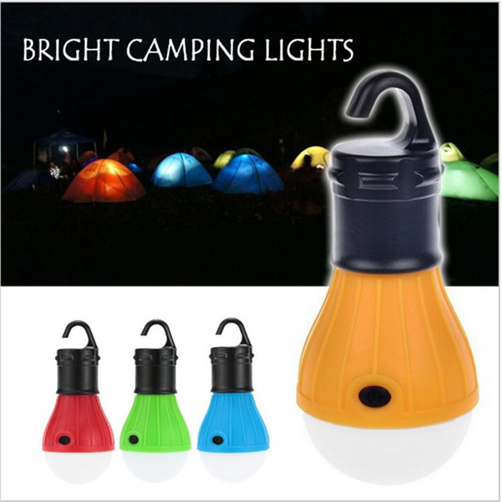 3 LEDs Outdoor Camping Tent Hanging Adventure Lanters Lamp Portable LED Light Hunting hut Fishing Garden Lamp Bulb