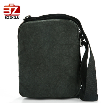 BZIXILU Men Crossbody Messenger bag Leisure Business casual cross body sling shoulder travel Canvas bags New Fashion for Women