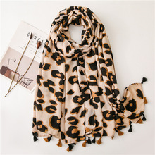 Women Scarf Leopard Print Scarf Shawl Viscose Scarf Shawl From Indian Bandana Print Cotton Scarves and Wraps Foulards Sjaal insect print bandana scarf