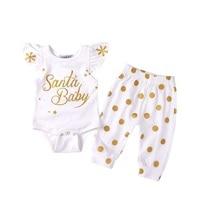 10 73 Per Vieeolove Baby Girls Sets Spring Bling Fly Sleeve Romper Polka Dot Pants