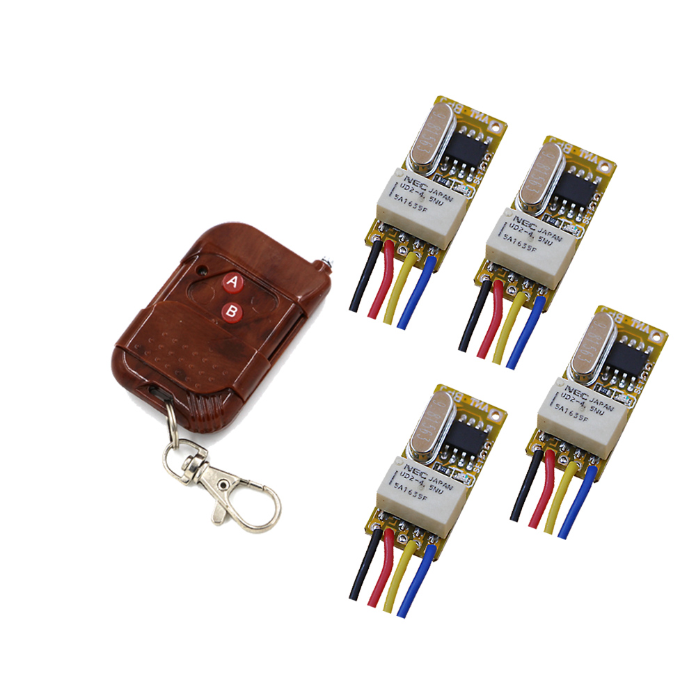 Free Shipping Small Volume Relay Wireless Switch DC3.7V 5V 6V 7.4V 9V 12V RF Receiver Transmitter NO COM NC Remote 315/433mhz atsuko asano no 6 volume 5