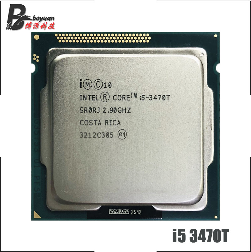 Intel Computer Components//Processors Core I5 3470T 2.9 Ghz 2 Cores 4 Threads 3 Mb Cache Low-Power Lga1155 Socket Oem Product Category