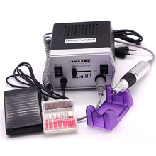 New 220V Electric Nail art Drill Machine 30x Drill Bits Kits 300x Sanding Bands Nail Tools