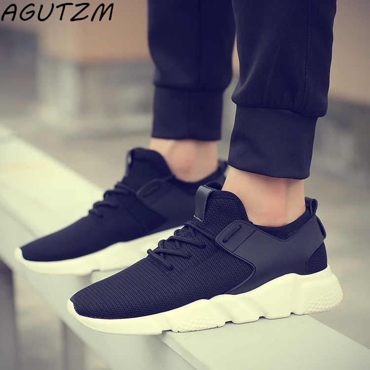 AGUTZM Mesh Shoes Man Fashion Men's Straps Workout Corriendo Casual Sneakers Solid Shoes Breathable Strap Sneaker Male Men Shoes