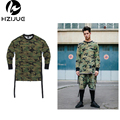 Long sleeve quality fashion men top tee tshirt t-shirt t shirt kanye west camo camouflage hip hop swag skate brand-clothing tyga