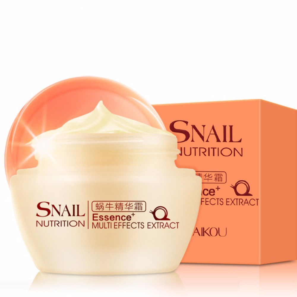 Natural Snail Nutrition Essence Extract Moisturizing Whitening Oil Control Acne Treatment Spots Remover Face Cream Skin Care 50g