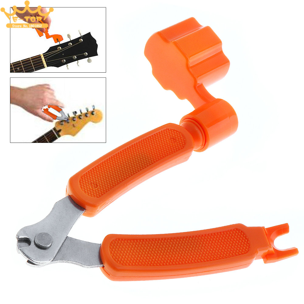 3in1 Multifunctional Guitar Ukulele String Cutter +Tool Winder + Pin Puller Instrument Accessories