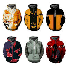 Naruto Hoodie Coat Sweatshirts Kakashi Akatsuki Sasuke O'Brien 3D Hoodies Pullovers Men Women Long Sleeve Outerwear Hoodie
