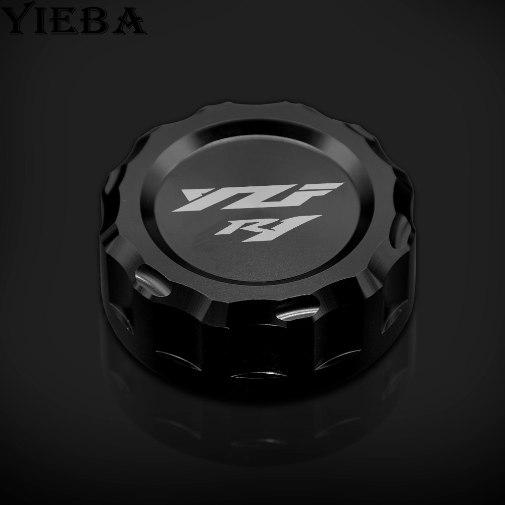 2018 new motorcycle accessory CNC brake Fluid Reservoir Cap Cover for Yamaha YZF-<font><b>R1</b></font> YZFR1 YZF <font><b>R1</b></font> <font><b>2009</b></font> 2010 2011 2012 2013-2014 image
