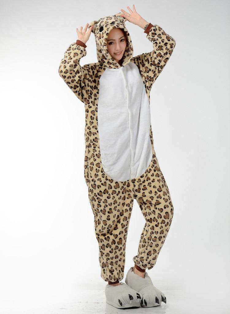 215f1a23ebbd Kigurumi Adult Leopard Bear Pajamas Onesies Animal Pyjamas One piece  Cosplay Costume Children Sleepwear Sleepsuit