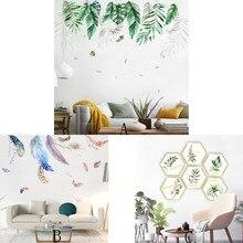 נורדי תוספות רוח קיר רקע ספת מדבקות קיר קישוט קיר ציור חדר קישוט vinilos decorativos para פרדס