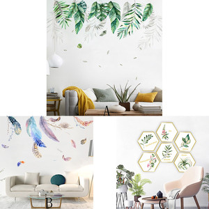 Image 1 - Nordic Ins Wind Wall Stickers Sofa Background Wall Decoration Wall Painting Room Decoration vinilos decorativos para paredes