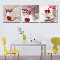 Picture Fruit Kitchen Canvas Pictures Abstract Art Oil Modular Painting Calligraphy Artwork Bilder Modern Wall Green