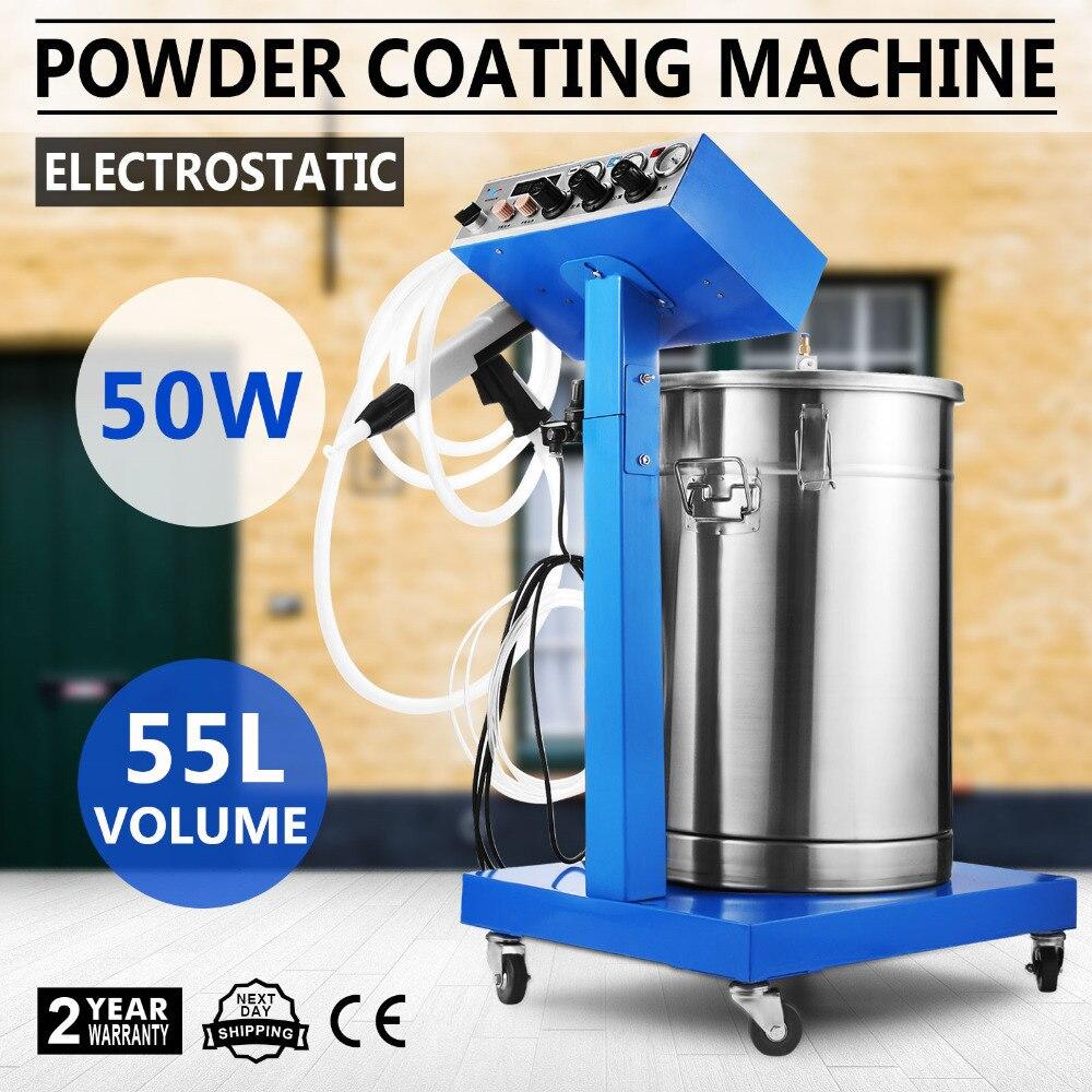 Powder Coating Machine WX-958 50W 45L Capacity Electrostatic Powder Coating System With Spraying Gun