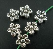 DoreenBeads 50 шт серебряный цвет цветок разделители бусины 9 мм (B02202), иу