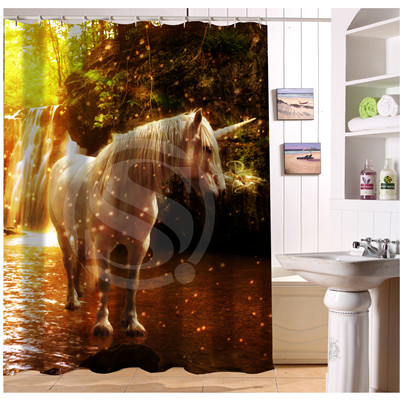 W522#68 Custom brown white black horse s3 Modern Shower Curtain bathroom Waterproof Free Shipping #fj68