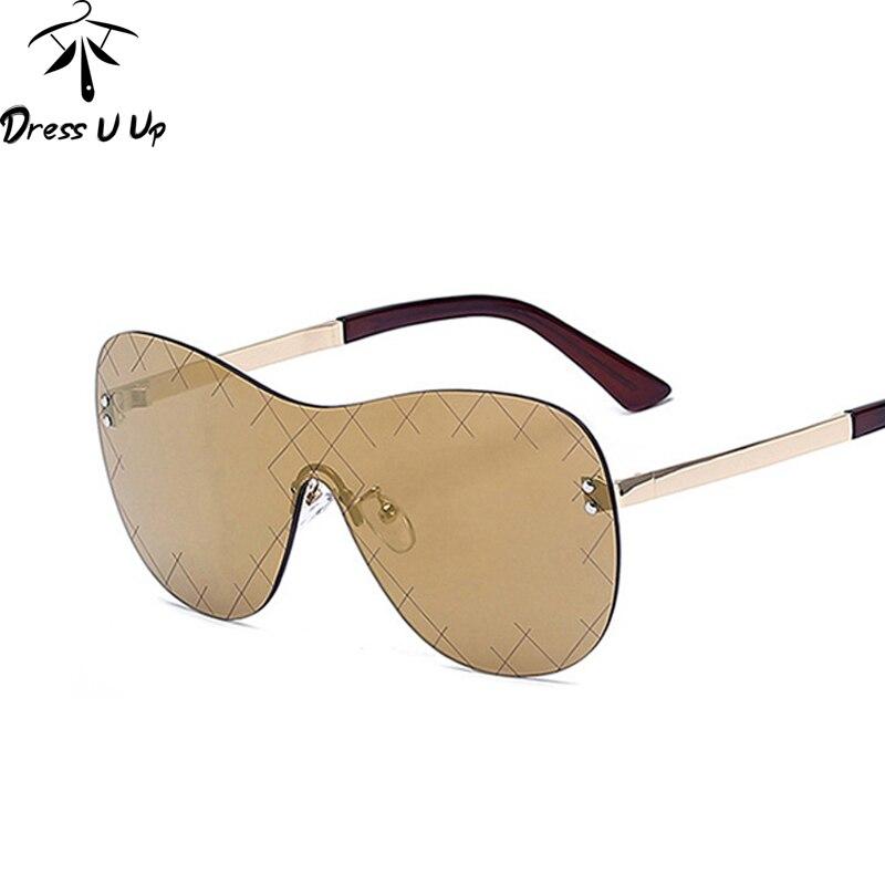 DRESSUUP Rose Gold Fashion Rimless Sunglasses Women Brand Designer Google Sun Glasses Men Eyewear Oculos De Sol Feminino Gafas