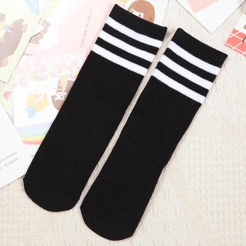 Kids-Knee-High-Socks-for-Girls-Boys-Football-Stripes-Cotton-Sports-Old-School-White-Socks-Skate-Children-Baby-Long-Tube-Leg-Warm-2