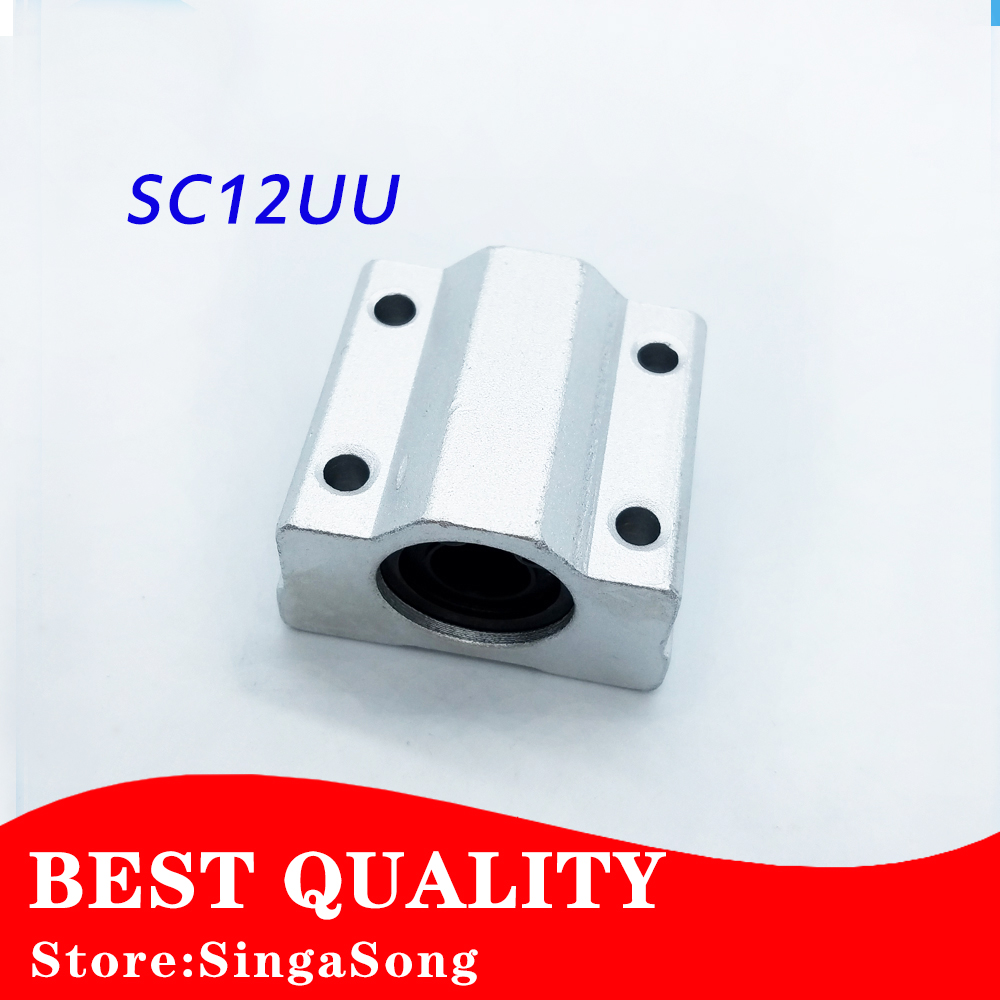 4 pcs SC12UU SCS12UU Linear motion ball bearings slide block bushing for 12mm linear shaft guide rail CNC parts scv25uu slide linear bearings aluminum box type cylinder axis scv25 linear motion ball silide units cnc parts high quality