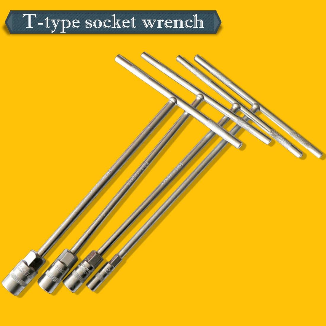 6mm~15mm T-bar Socket Spanner Socket Wrench Nut Spinner, Chrome Vanadium