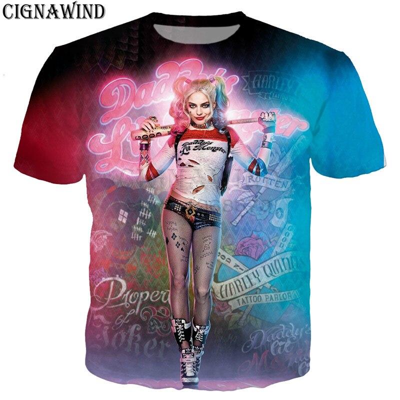 Fashion Popular T Shirt Men/women Movie Harley Quinn The Joker 3D Printed T-shirts Casual Harajuku Style Tshirt Streetwear Tops