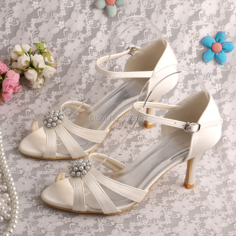 ФОТО Wedopus MW571 Women Shoes Summer Sandals Off White Wedding Party Shoes