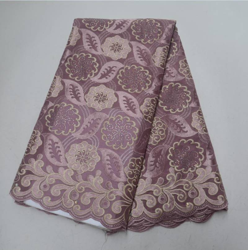 African Cotton Lace Fabric 2018 New Arrival African Swiss Voile Lace Fabric African Nigerian Cotton Lace Fabric  YW7181