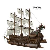 Hot movie Caribbean pirate flying Dutchman ship moc building block model davy jones Captain Jack Maccus figures bricks toys