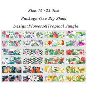 Image 5 - 12 Designs Nail Polish Sticker Water Decal Flamingo Flowers Harajuku Owl Transfer Decoration Manicure Tattoo Tips JIBN913 984 1