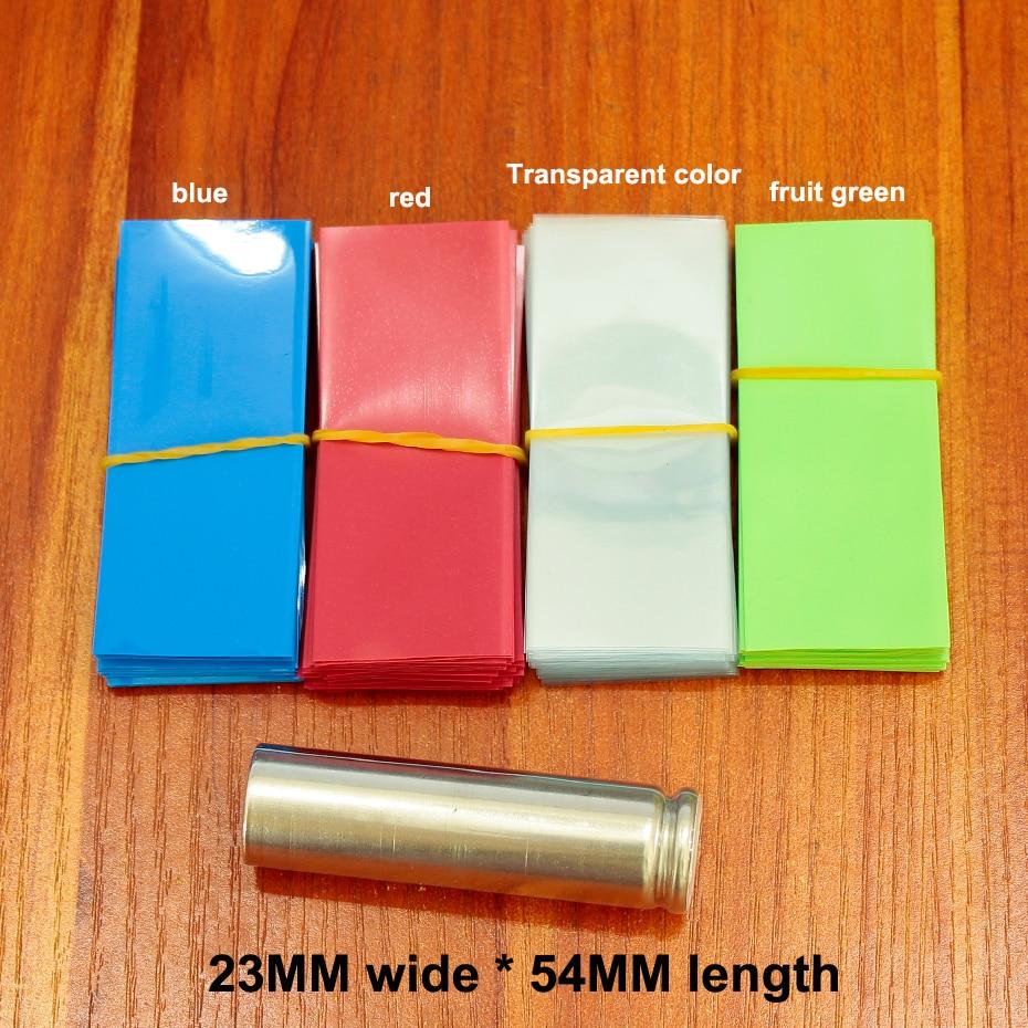 100 pçs/lote 14500 pacote de bateria de lítio tubo de película de psiquiatra do PVC manga termoencolhível bainha de isolamento da bateria