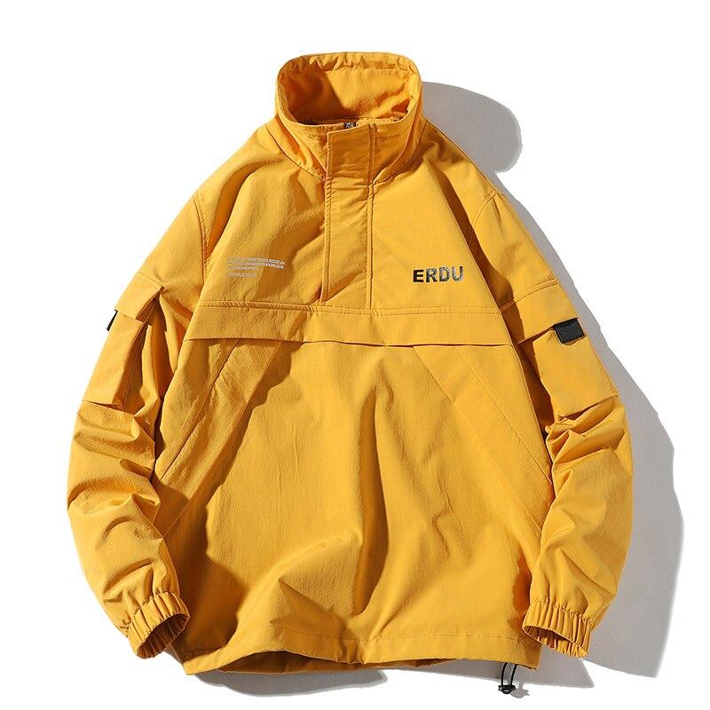 Streetwear Casual Men Jacket Coat Solid Windbreaker Mens Bomber Jacket Spring Autumn Pullover Male Overcoat