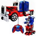 Optimus Prime грузовик Трансформации RC робот светодиодные голос горячие игрушки для мальчиков детей детей с оригинальной подарочной упаковке P2