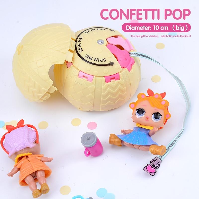 On Sale Confetti Pop 10cm Big Lol Doll In Balls 3 Series Egg Toys