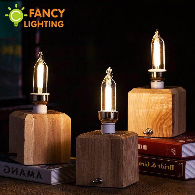 led lamp artistic triangle e14 led bulb 3w 220v decorative light bulb gift lampada for home - Decorative Light Bulbs
