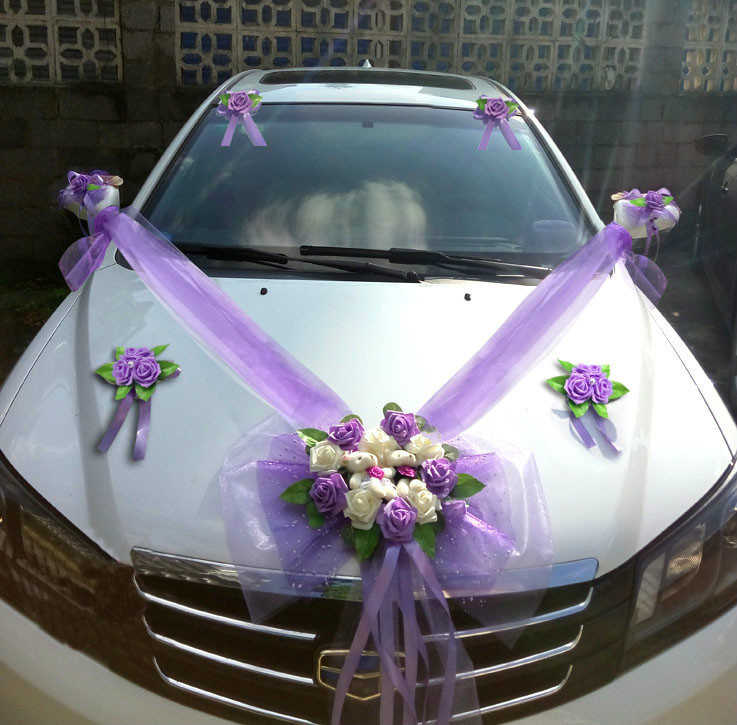 Detail Feedback Questions About Simple Style Wedding Car Decorative