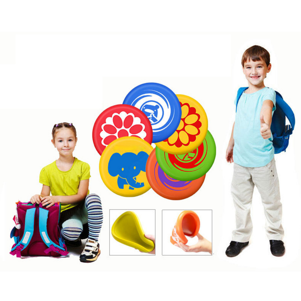Kindergarten Playing Game Flying Disc Frisbee Toy Soft PU Frisbee Toy For Parent-Child Interactive Outdoor Flying Disk Game Prop