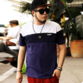 man t shirt fashion patchwork cotton round neck short sleeve t-shirt homme men's 7xl 6xl-2xl