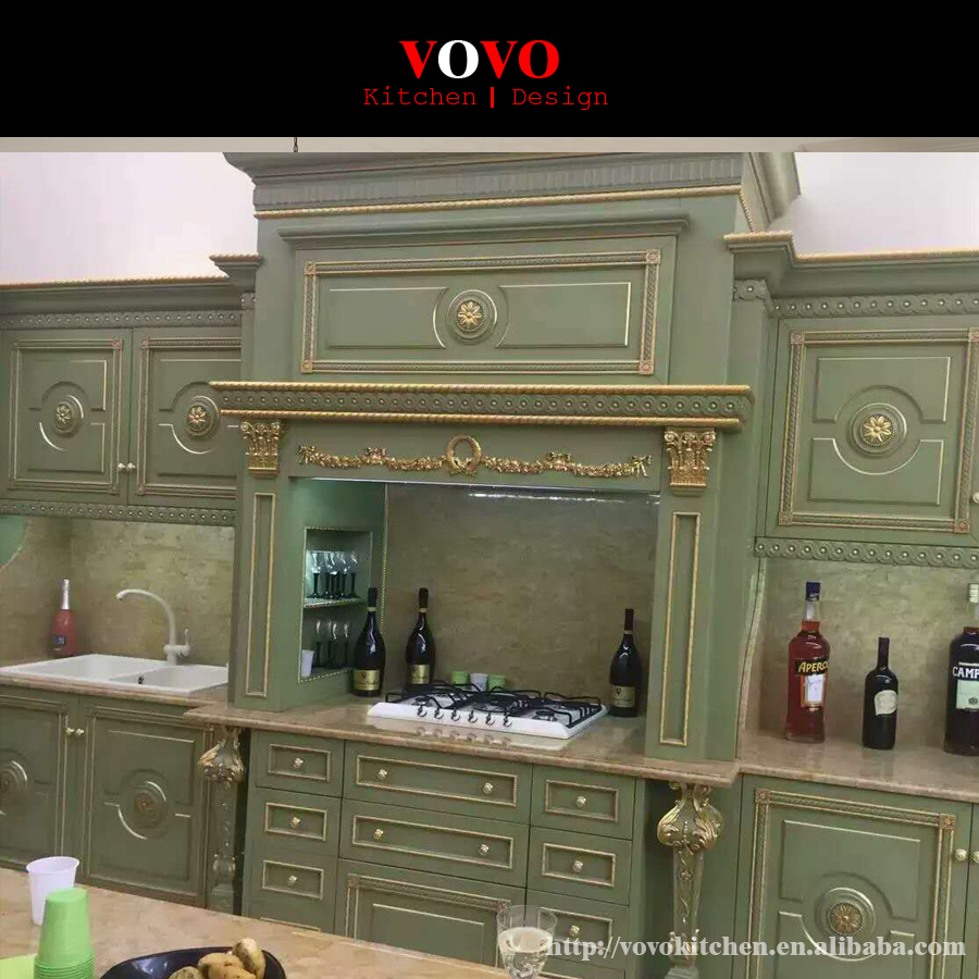 Morden Solid Wood Kitchen Cabinet