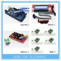 1 pcs Mega 2560 R3 + 1 pcs rampas 1.4 controlador + 5 pcs A4988 Stepper módulo de Driver + 1 pcs 2004 controlador para kit impressora 3D