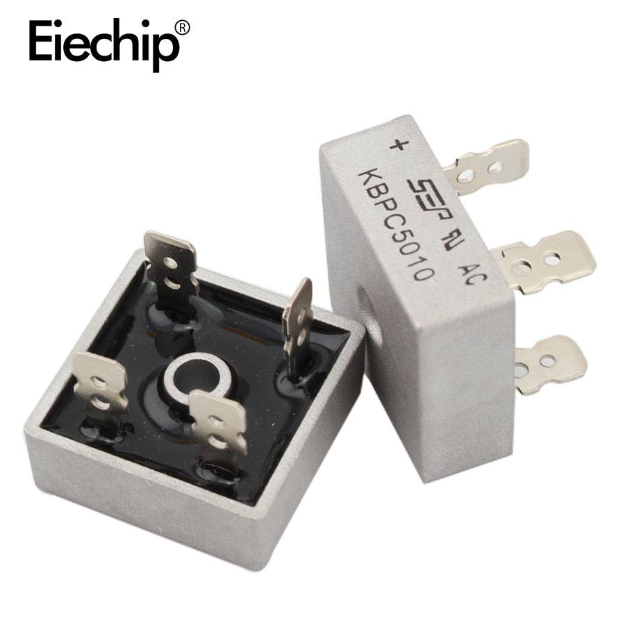 5pcs/lot Diode Bridge KBPC5010 50A 1000V Diode Bridges Rectifier KBPC 5010 Power Rectifier Electronic Componentes KBPC5010 Diode