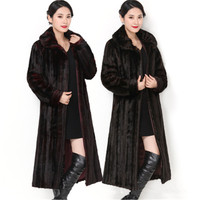 New large size fur collar faux fur women's jacket imitation water mane fur coat long thick winter warm 100% high quality