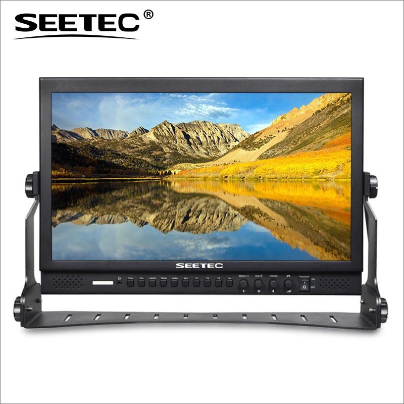 P173-9HSD 17.3 Inch Aluminum Pro Broadcast LCD Monitor with 3G-SDI HDMI AV YPbPr Seetec 17.3inch LCD Broadcast Monitors