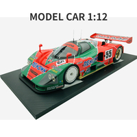 Diecast 1:12 car Toys For Boys red Mazada Diecasts Toy Vehicles 787B abs children Birthday Gift Model Car