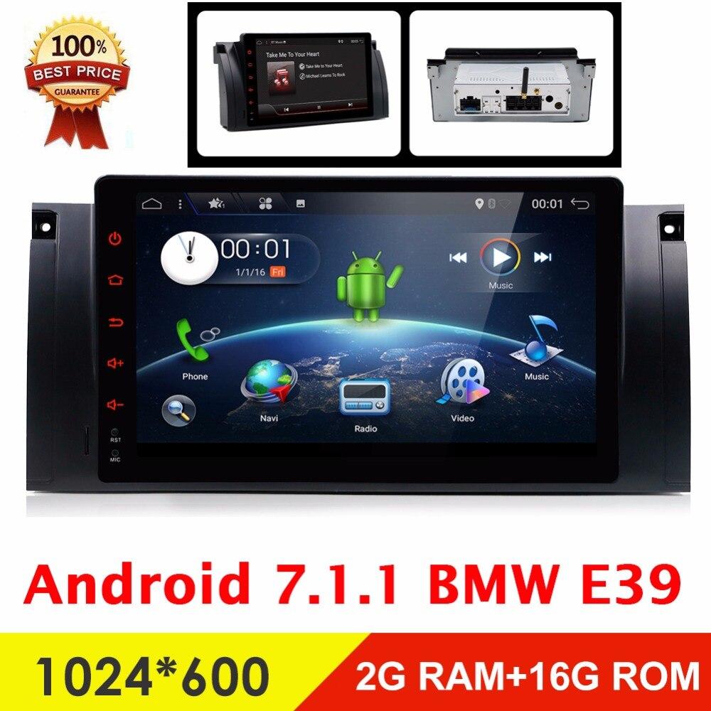 Bosion Android 7.1 1 Din Voiture DVD GPS Pour BMW M5 E39 E53 DVD De Voiture Radio Navigation 9 pouces Bluetooth RDS 1 DIN Voiture Multimédia